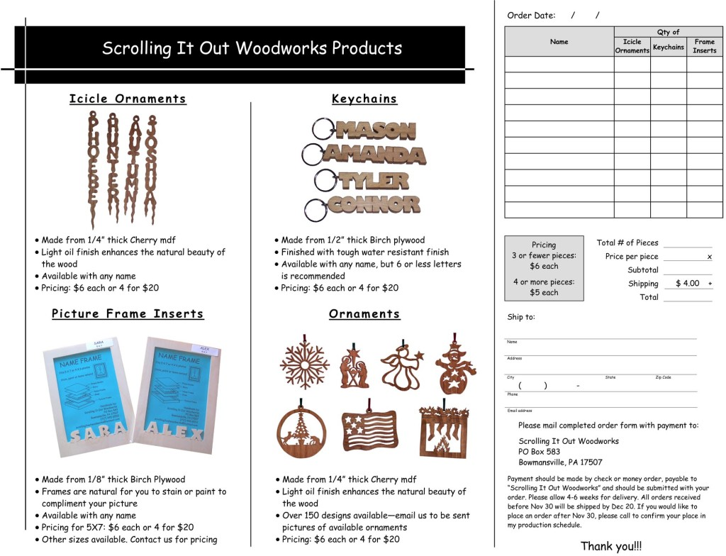 scrolling it out woodworks order form
