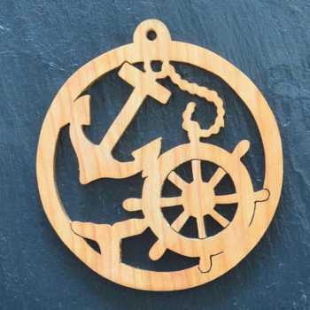 Christmas Ornament Anchor & Whale Tail