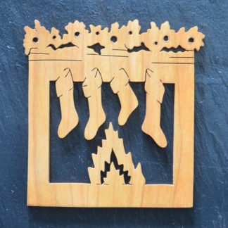 Christmas Ornament Stockings with Fireplace 020