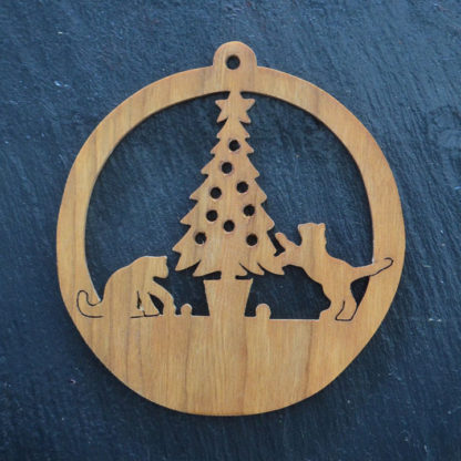 Christmas Ornament Cats & Tree 022