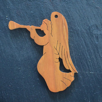 Christmas Ornament Angel with Horn 028