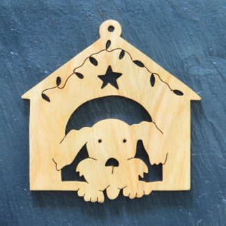 Christmas Ornament Dog in House 050
