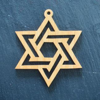 Christmas Ornament Star of David 054
