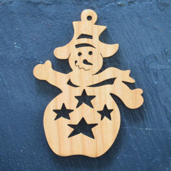 Christmas Ornament Snowman Stars 075