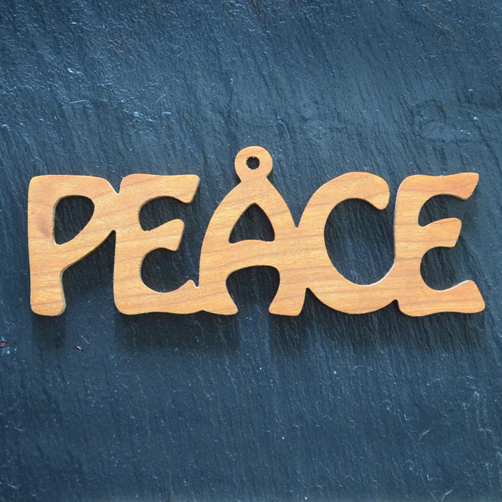 Christmas Ornament Peace 081 – Scrolling It Out Woodworks
