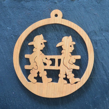 Christmas Ornament Firemen 082
