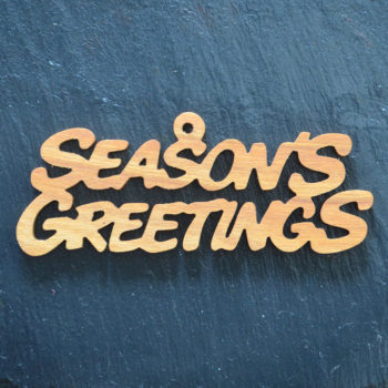 Christmas Ornament Seasons Greetings 115