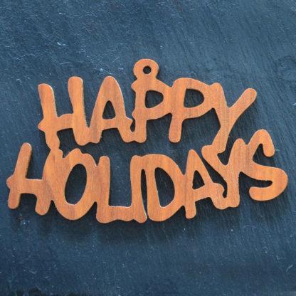 Christmas Ornament Happy Holidays 123