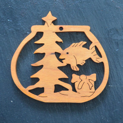 Christmas Ornament Fish Bowl 129