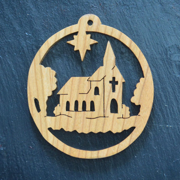 Christmas Ornament Church 184