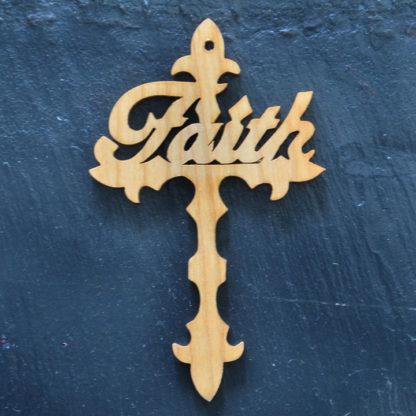 Christmas Ornament Faith Cross 192