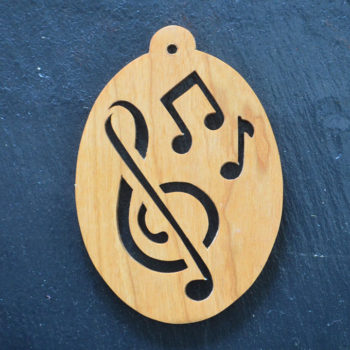 Christmas Ornament Oval Music Notes 198