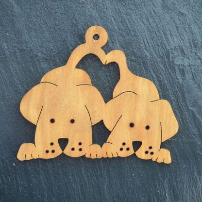 Christmas Ornament Two Dogs 220