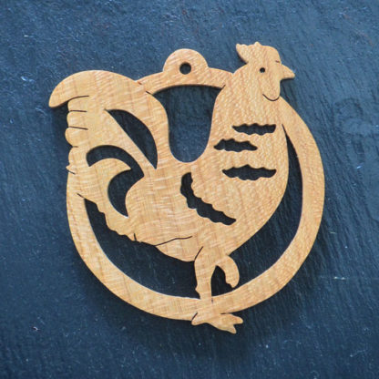 Christmas Ornament Rooster 210