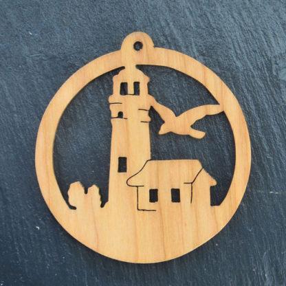 Christmas Ornament Lighthouse with Bird 212