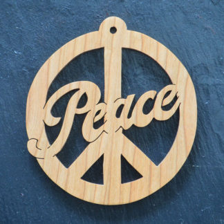 Christmas Ornament Peace Sign 152