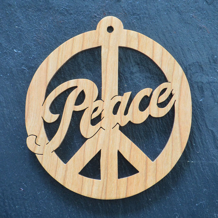 Christmas Ornament Peace Sign 152 Scrolling It Out Woodworks