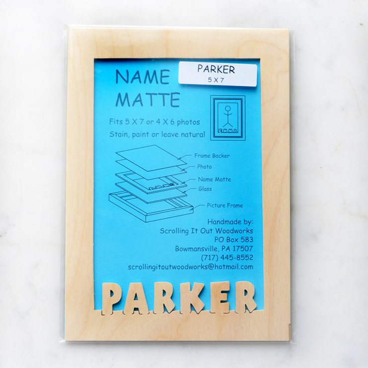 Name Frame Inserts – Scrolling It Out Woodworks