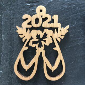 2021 Beach Flip Flops Christmas Ornament