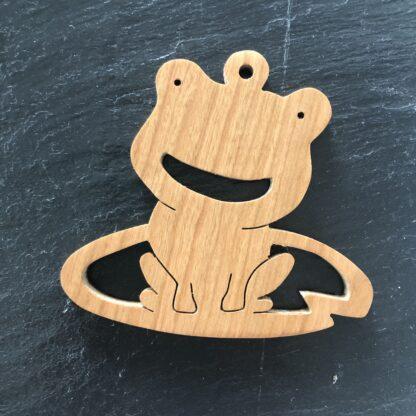 Frog on Lily pad Christmas ornament 303